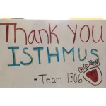 Isthmus Engineering Thank You Sign