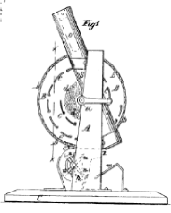 Corn husker and sheller technical drawing